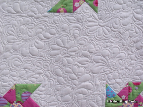 Quilting detail on new Melly and Me Quilt
