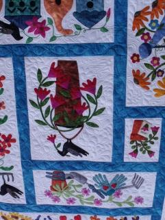 Beautiful garden quilt