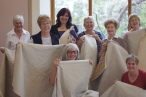 Happy quilters learning new skills